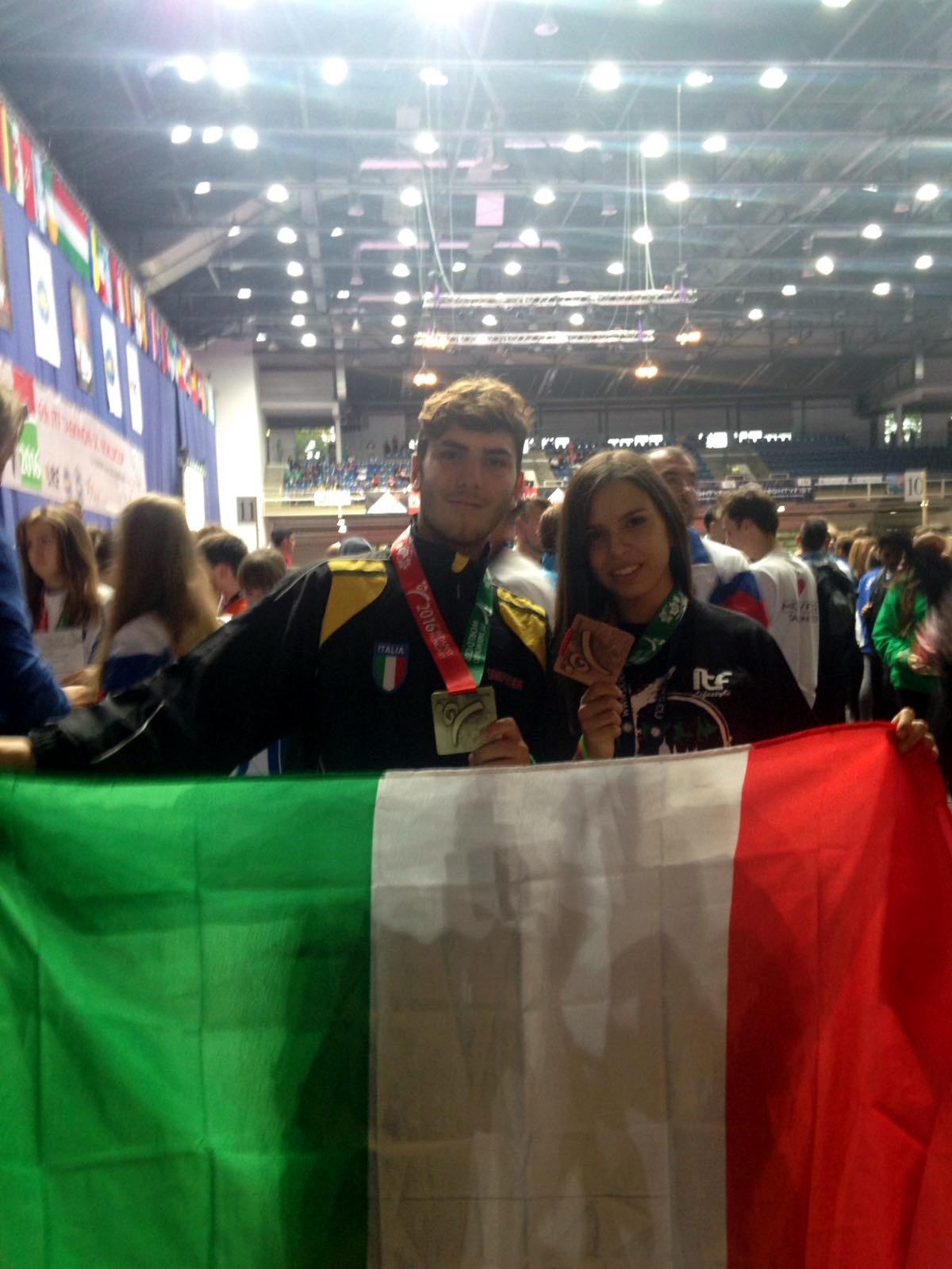 Coppa del Mondo Taekwon-Do ITF. Budapest Ottobre 2016. Ilaria Osso e Daniel Osso